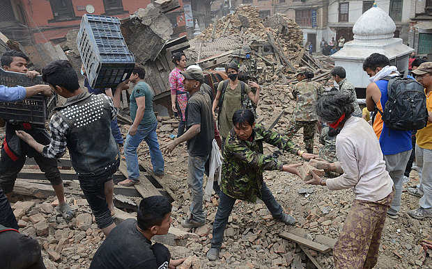 Destruction Nepal 2015